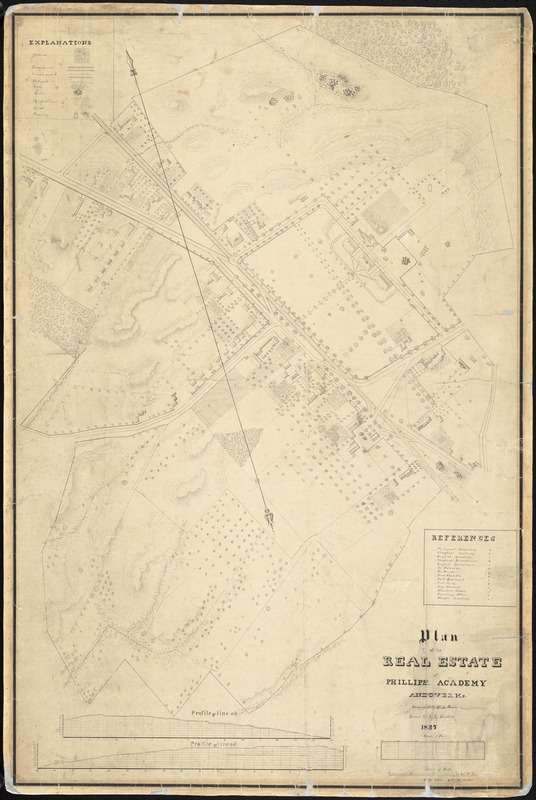 Plan of the real estate of Phillips Academy, Andover, Ms.