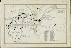 Phillips Academy, Andover, Massachusetts, map of property