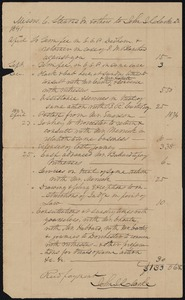Bill for legal services to John I. Clark