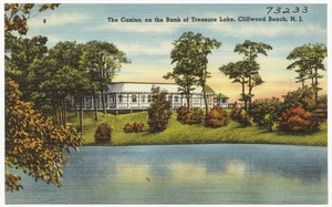 The Casino, on the bank of Treasure Lake, Cliffwood Beach, N.J.