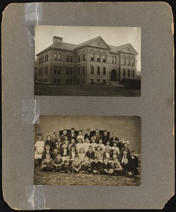 Francis School [above] group of students [below]