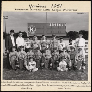 Yankees 1951, Lawrence Kiwanis Little League champions