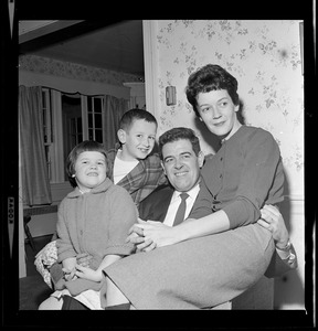 Assistant District Attorney Donald Conn of Melrose, prosecutor in the DeSalvo trial, enjoys a little relaxation with his family after the long trial