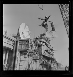 Antenna in place on the USS Wasp carrier