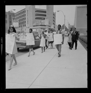 Philadelphia NAACP members picketing outside the 58th annual Boston convention