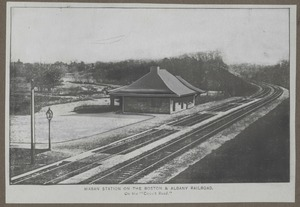 Waban photographs - Waban Station -