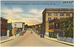 National Highway looking west -- Elm Grove, Wheeling, W. Va.