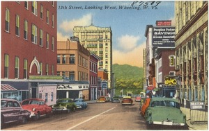 12th Street, looking west, Wheeling, W. Va.