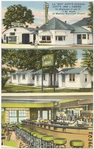"La ""Roy"" Gest's Garage, Gest's Inn -- Cabins, on highways 51 and 19, 3 mi. north of Madison Municipal Airport"