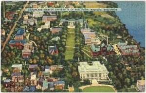 Aeroplane view of University of Wisconsin, Madison, Wisconsin