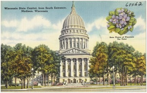 Wisconsin State Capitol, from south entrance, Madison, Wisconsin