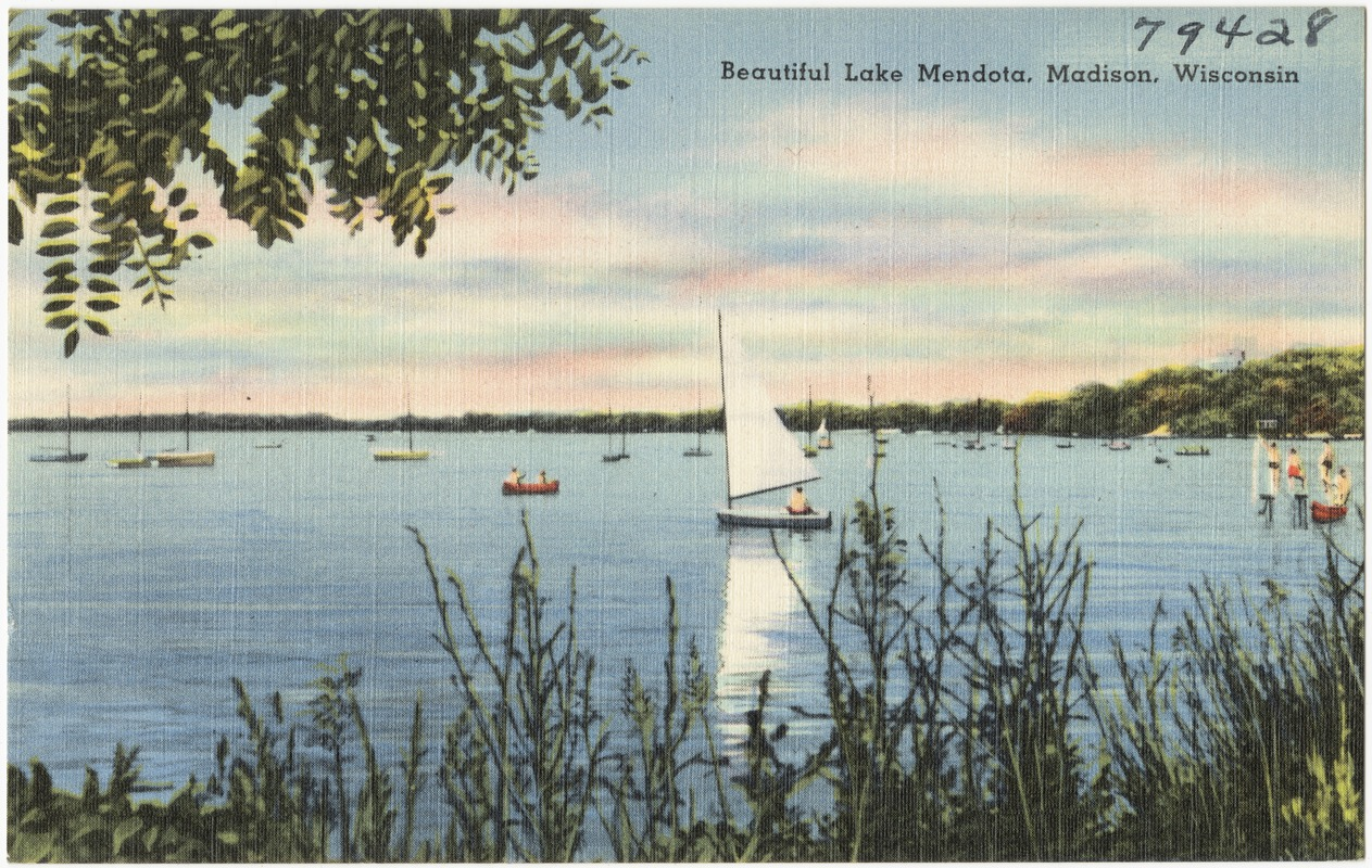 Beautiful Lake Mendota, Madison, Wisconsin