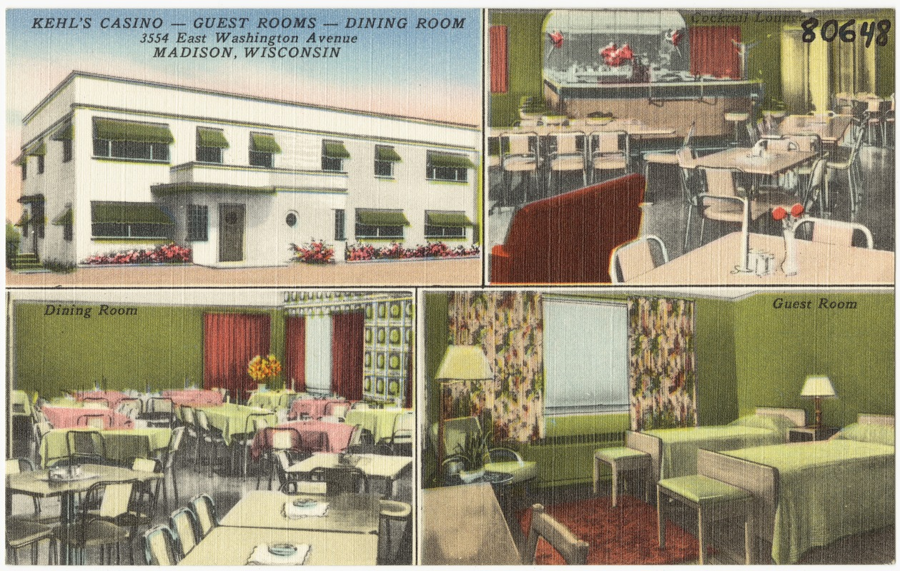 Kehl's Casino -- Guest rooms -- Dining room, 3554 East Washington Avenue, Madison, Wisconsin