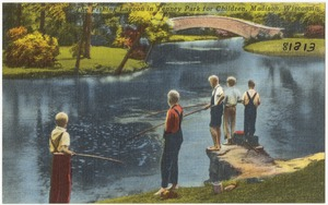 The fishing lagoon in Tenney Park for Children, Madison, Wisconsin