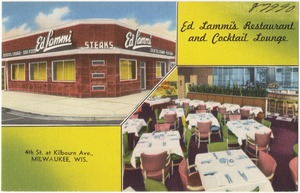 Ed Lammi's Restaurant and Cocktail Lounge, 4th St. at Kilbourn Ave., Milwaukee, Wis.