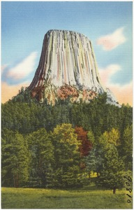 The Devil's Tower, Devil's Tower National Monument in Northeastern Wyoming