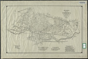 Zoning map of Watertown, compiled from former surveys