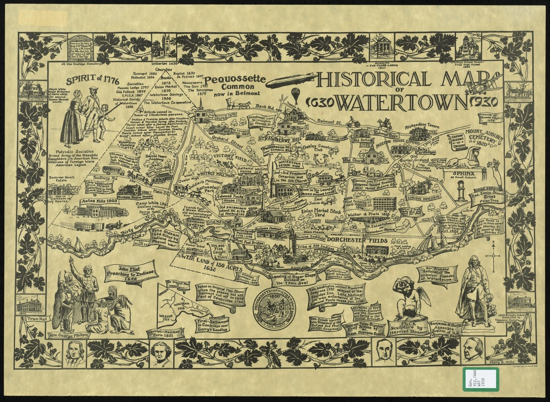 Historical map of Watertown