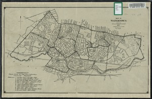 Map of Watertown compiled from former surveys