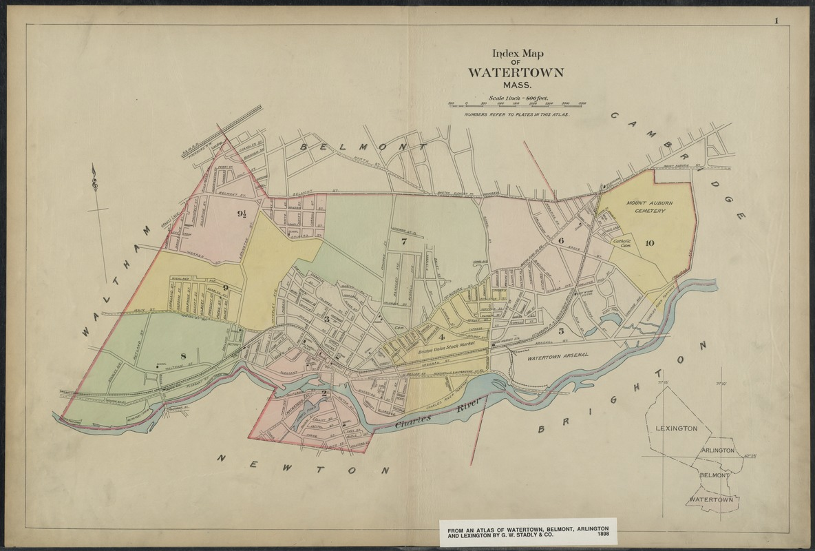 Index map of Watertown, Mass.