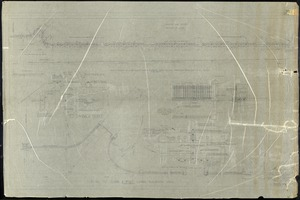 """CLAREMONT PARK, NYC; DETAILS OF CURB OF POST; ALONG RIVERSIDE DRIVE; SCALE 3/4"""" AND 3/8"""" AND 1/8""""=1' AND FSD"""