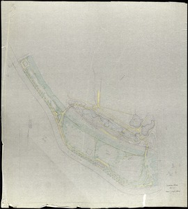 """Audubon Park[r]/ Studies for Development of South End of Park and Area Outside of Levee[pi]/; Scale 80' = 1"""" [r]"""