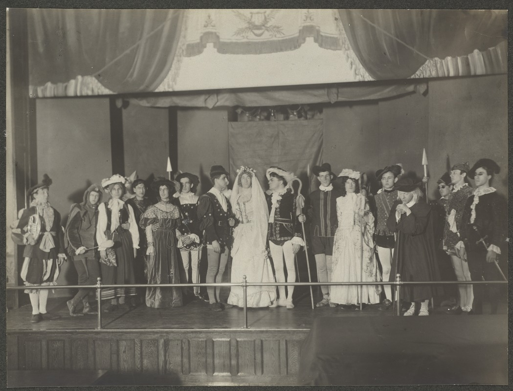 """Act V. Closing Scene. """"As You Like It"""", Perkins Institution"""