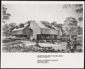 Alumnae Library, drawing