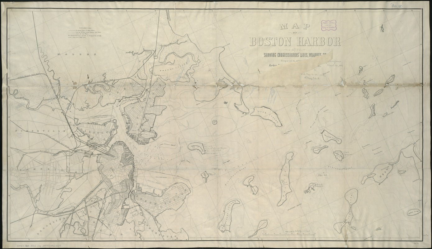 Map of Boston Harbor