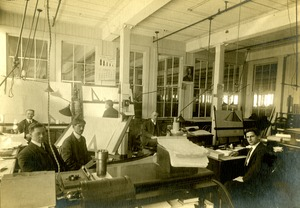 Draper Company Drafting Room with employees
