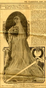 Lovely capital heiress who became bride of Italian prince yesterday