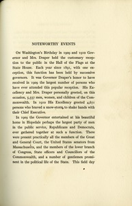 Noteworthy Events of the Governorship of Eben Sumner Draper