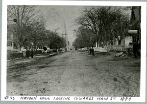 Hayden Rowe Looking Towards Main Street, ca. 1880