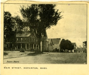 Main Street Hopkinton at Hayden Rowe Street