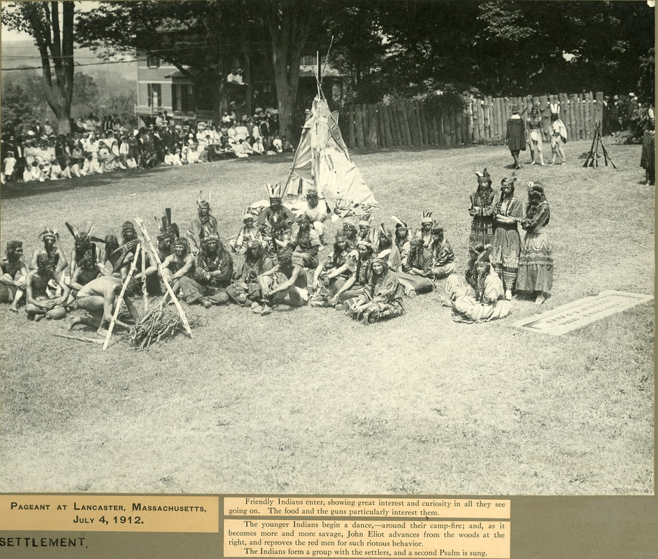 Pageant Exhibition Panel 06 - The Nashaway encampment