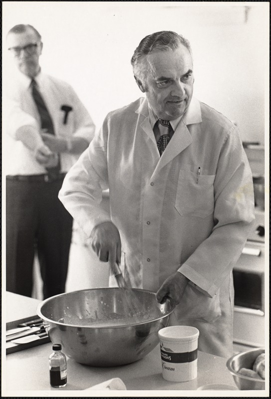 Pierre L. Franey, chef and VP Howard Johnson, April 5, '72