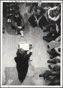 Maxine Kumin - poetry reading in library on 2/19/74