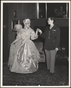 """Play, """"Marraine de Guerre"""" presented on March 22, 1954 in the Oak Room"""