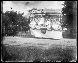 Horse-drawn wagon parade float 1901