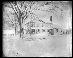 Bela Whiton house snow storm Nov. 27 1898