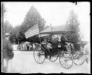 Hon. John D. Long in carriage July 4, 1901