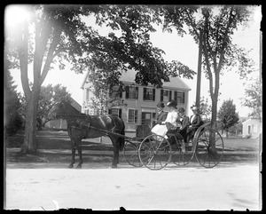 Four people in Carriage on Main St.