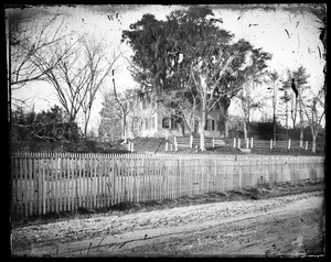 Unidentified house and property-possibly Richardson house, corner of Main and Winter Sts.