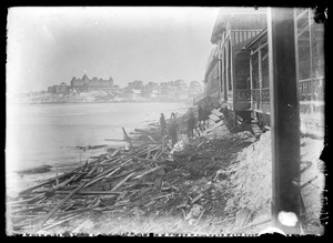Wreckage at Hotel Nantasket after storm of 1898
