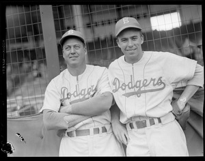 Two Brooklyn Dodgers players at Braves Field