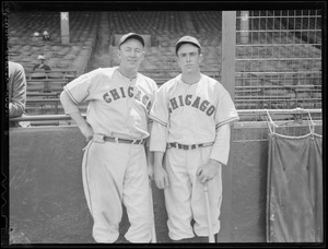 Two Chicago Cubs players