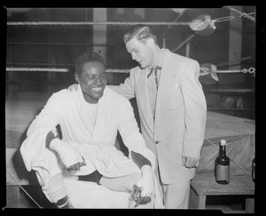 Boxers Ezzard Charles and Tommy Collins