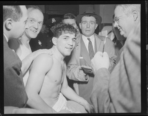Champion Tony DeMarco interviewed after bout