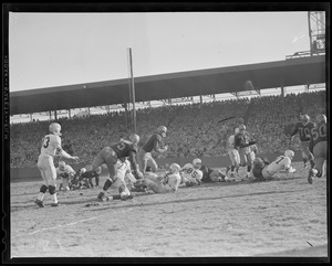 Action at Fenway Park