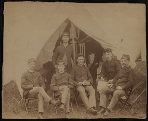 Soldiers in Front of Tent